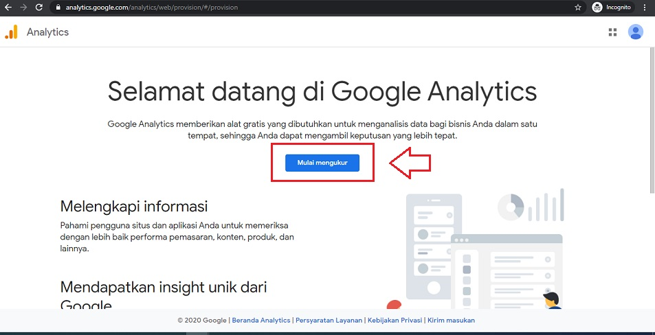 Mulai Google Analytics